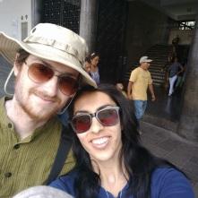 Enjoying a sunny day in Plaza De Armas, Arequipa