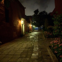 City within a city. Path in Monasterio Santa Catalina.