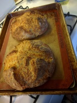 Two cooked loaves...