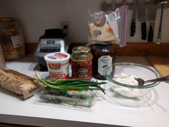 All the ingredients laid out