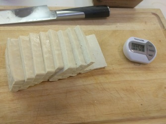 Sliced up Tofu