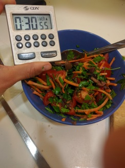 Enough time to make a side salad!