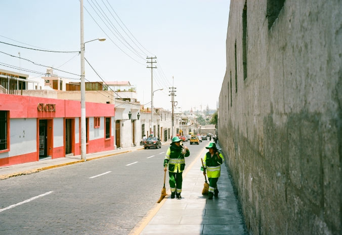 Arequipa had a TON of people working to keep the tourist district beautiful