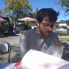 Tyler demolished his burrito