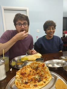 I ate the rest of his dosa...