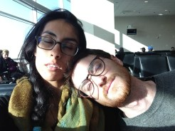 Sleepy at the airport