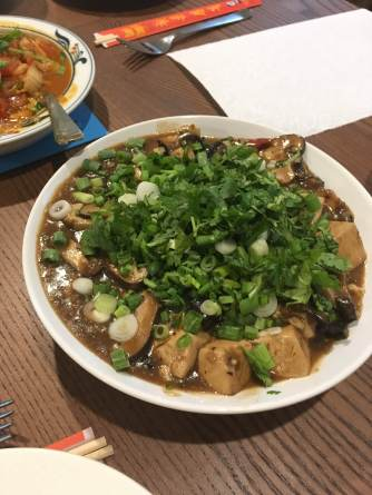 Our first Mapo tofu attempt