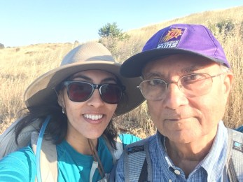 Hiking with papa...